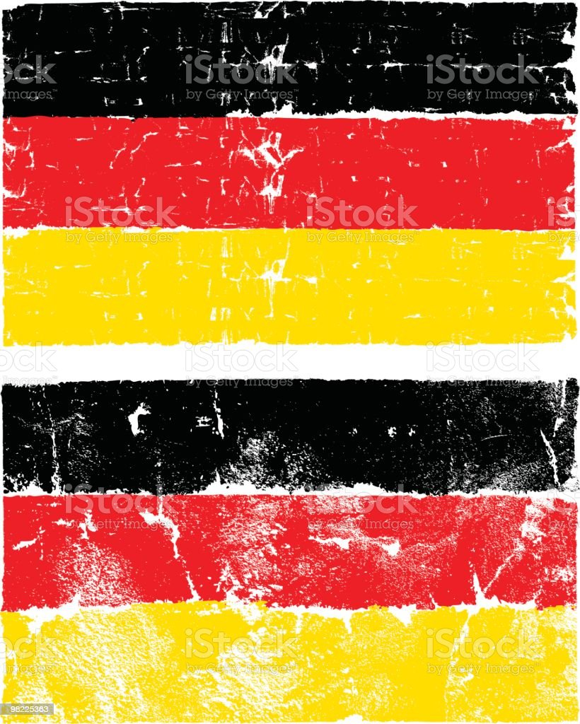 Flag of Germany, Grunge Style royalty-free stock vector art
