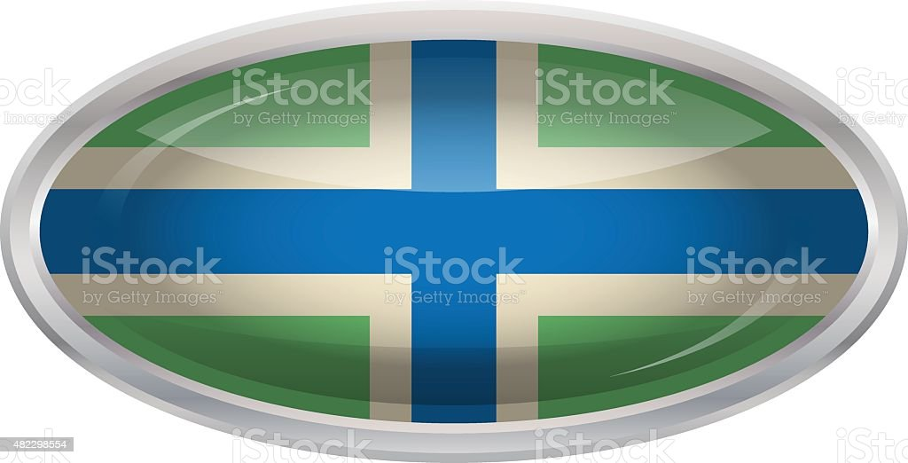 Flag of Gloucestershire vector art illustration