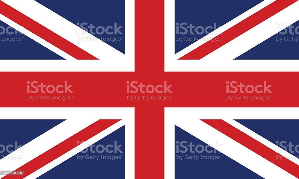 Flag of Great Britain vector art illustration