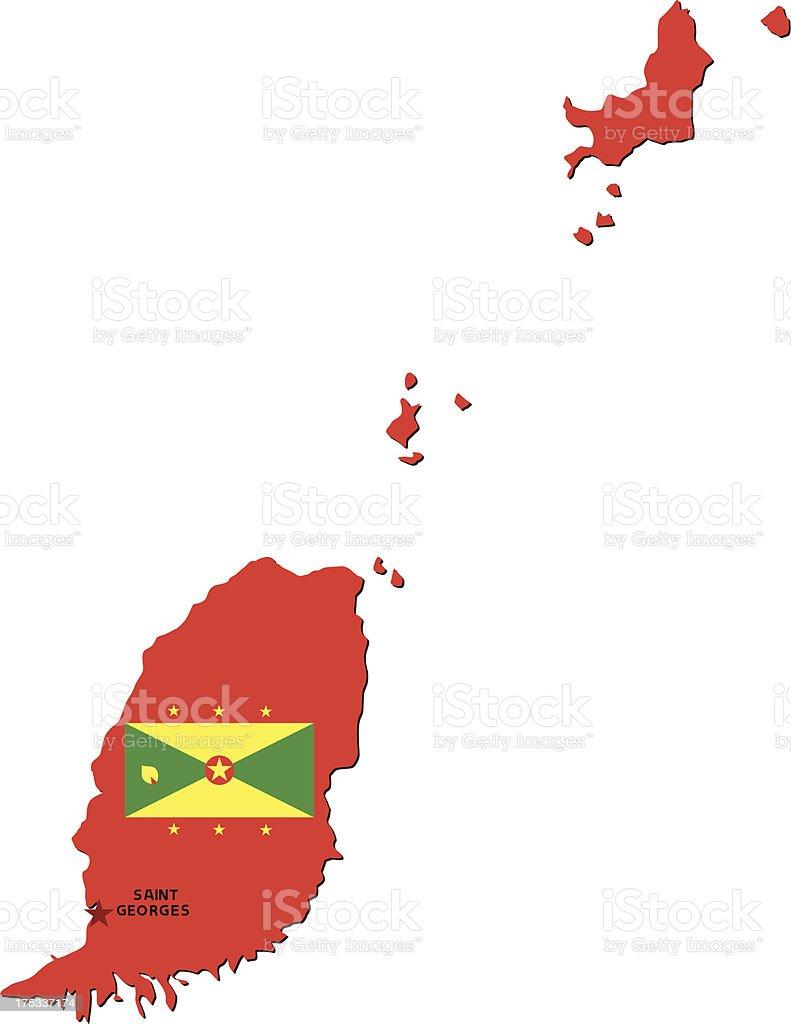 Flag Of Grenada royalty-free stock vector art