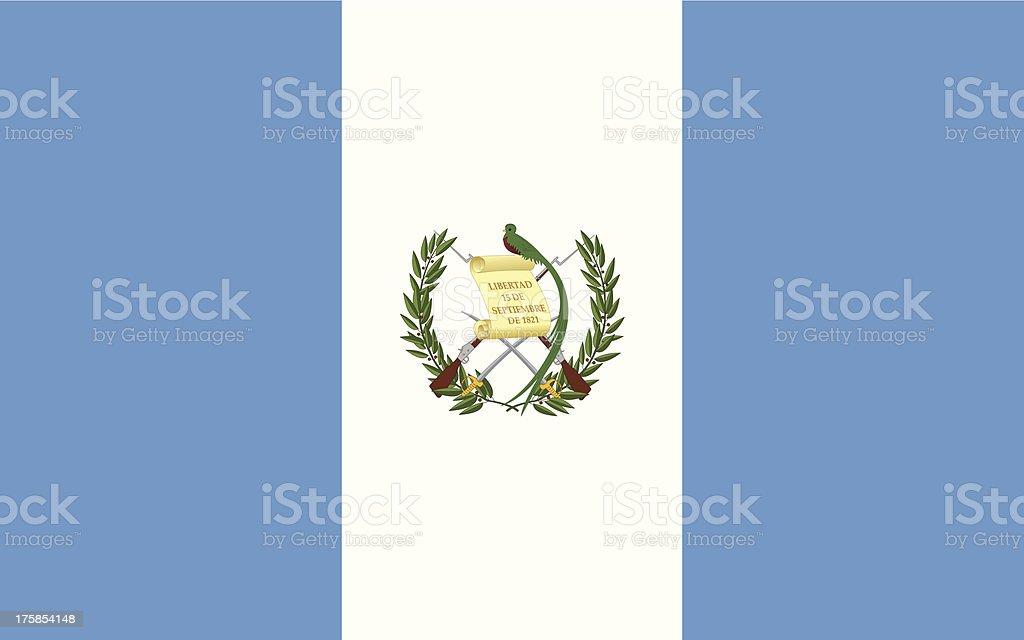 Flag of Guatemala vector art illustration