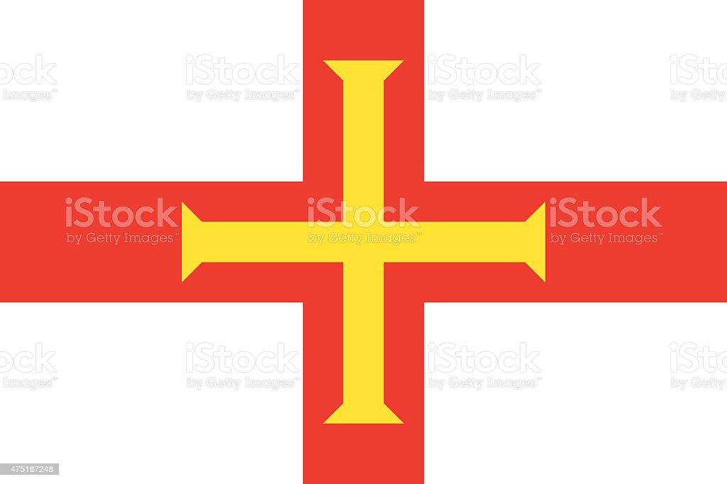 Flag of Guernsey vector art illustration