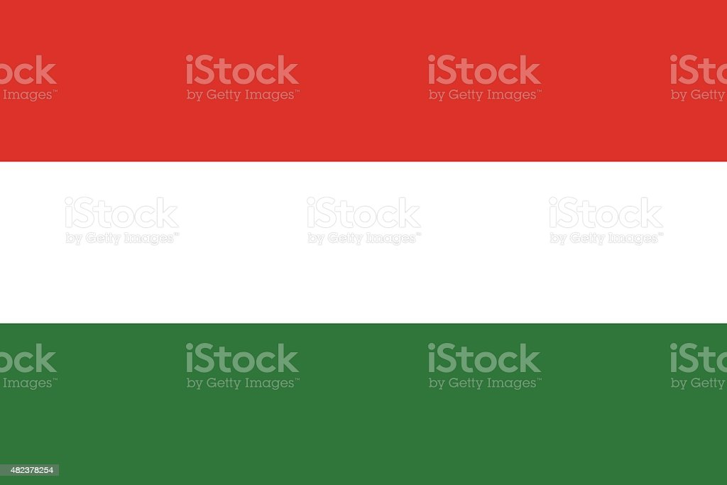 Flag of Hungary vector art illustration