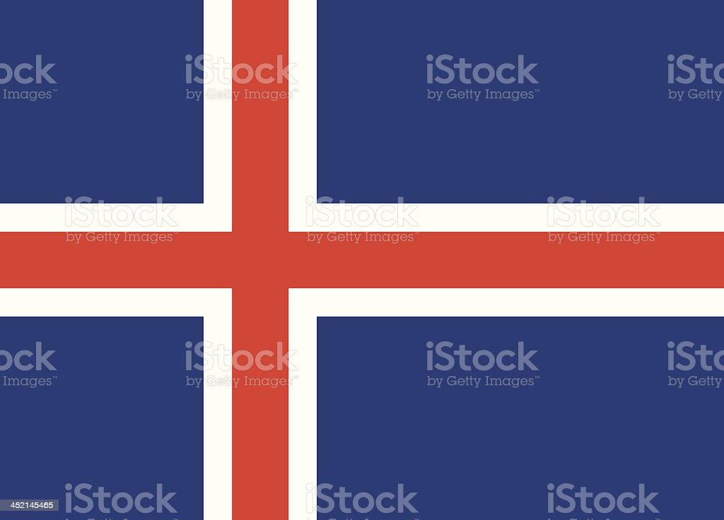 Flag of Iceland vector art illustration