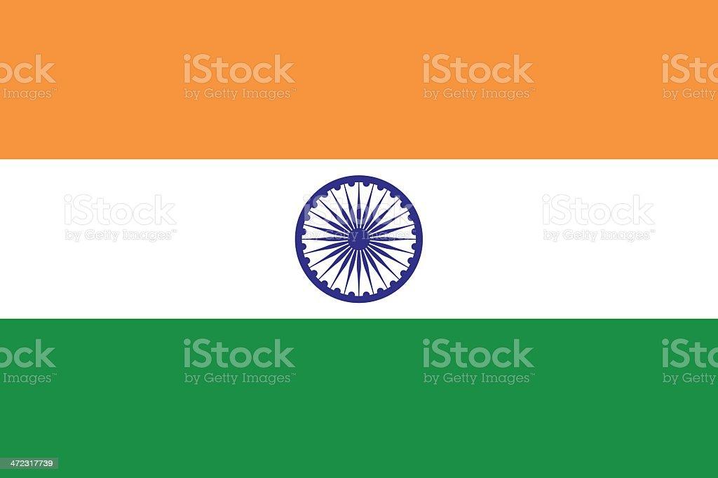 Flag of India vector art illustration