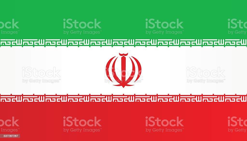 Flag of Iran vector art illustration