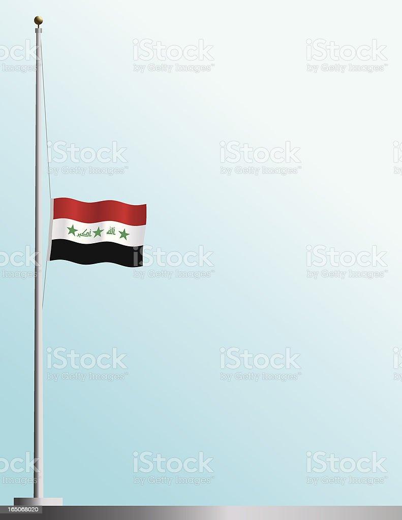 Flag of Iraq at Half-Staff royalty-free stock vector art