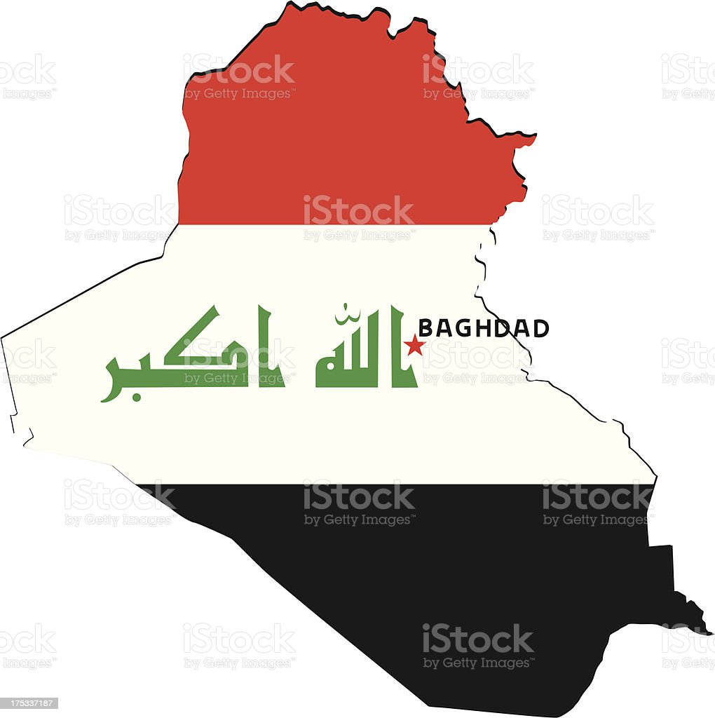Flag Of Iraq royalty-free stock vector art