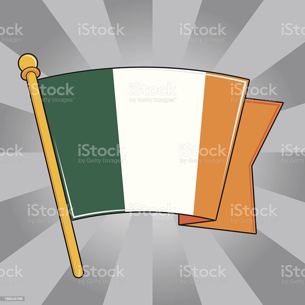 Flag of Ireland royalty-free stock vector art