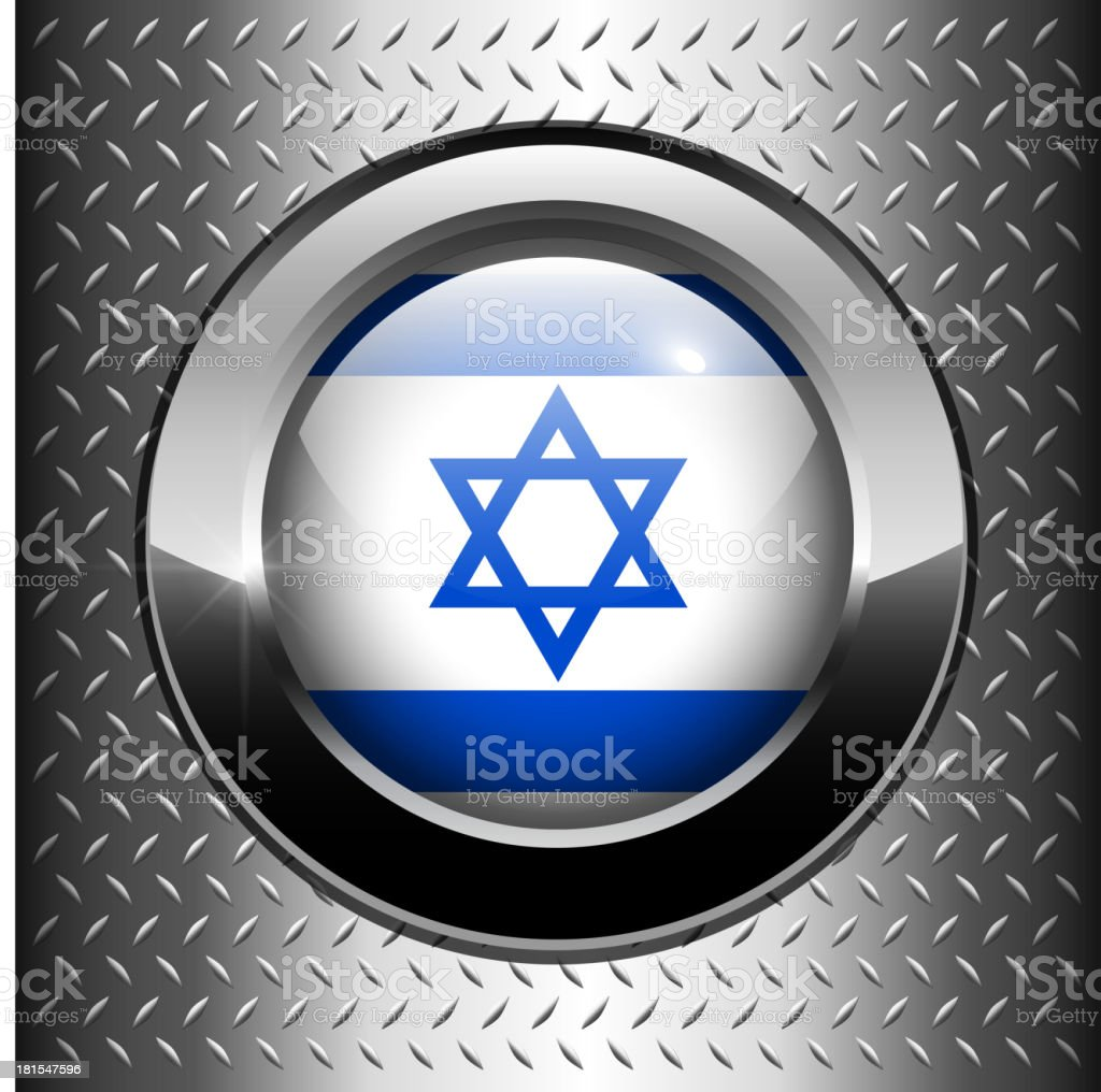 Flag of Israel button royalty-free stock vector art