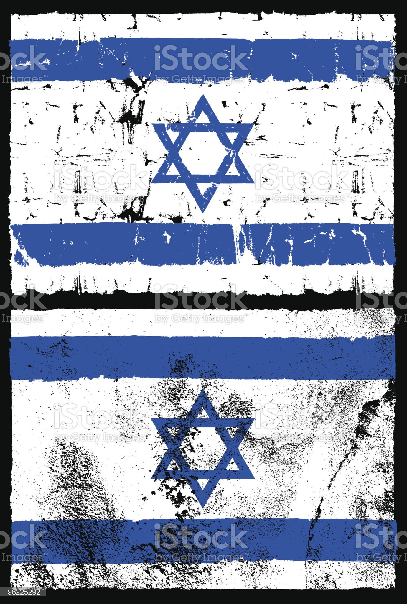 Flag of Israel, Grunge Style royalty-free stock vector art