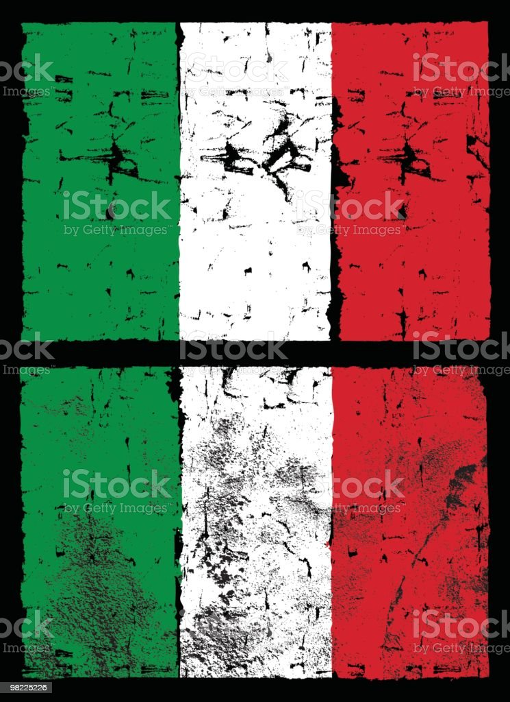 Flag of Italy, Grunge Style royalty-free stock vector art