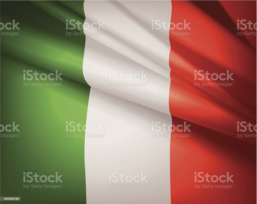 Flag of Italy, vector background vector art illustration