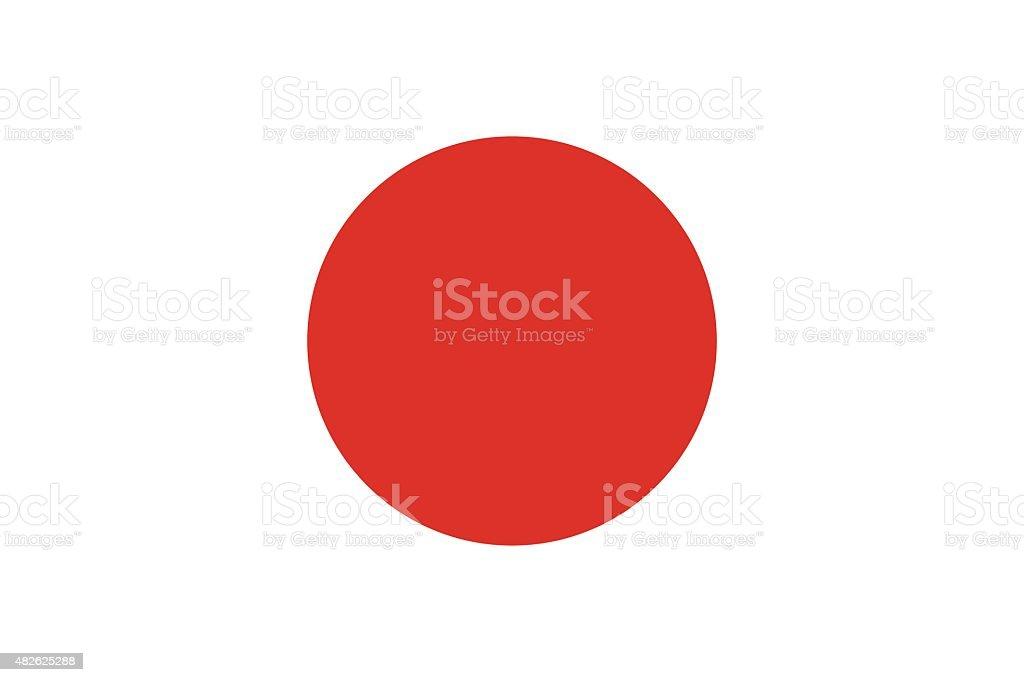 Flag of Japan vector art illustration