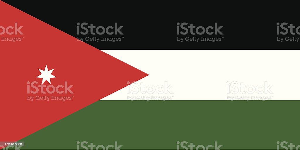 Flag of Jordan royalty-free stock vector art