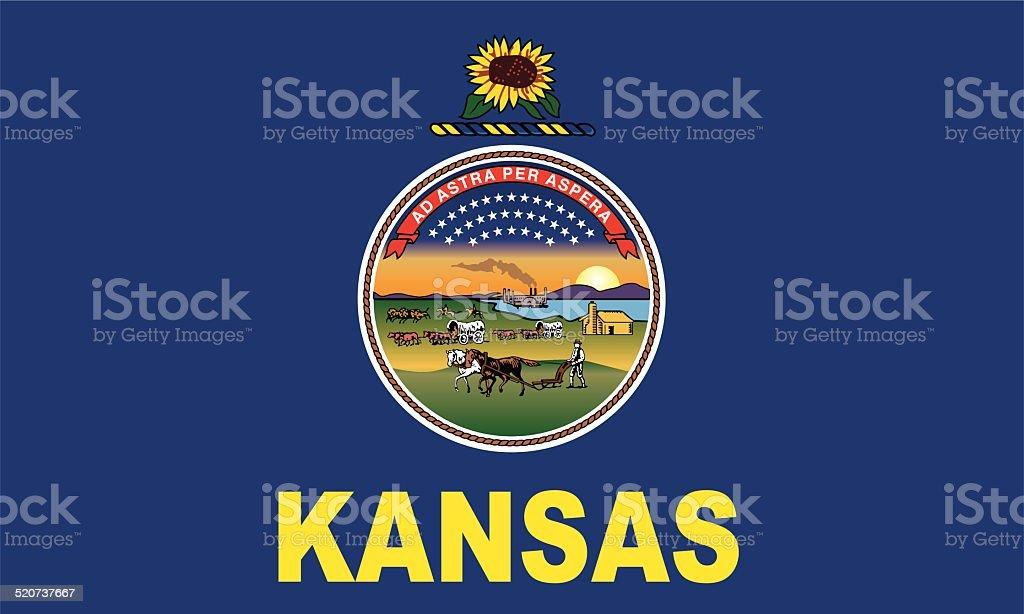 Flag of Kansas vector art illustration