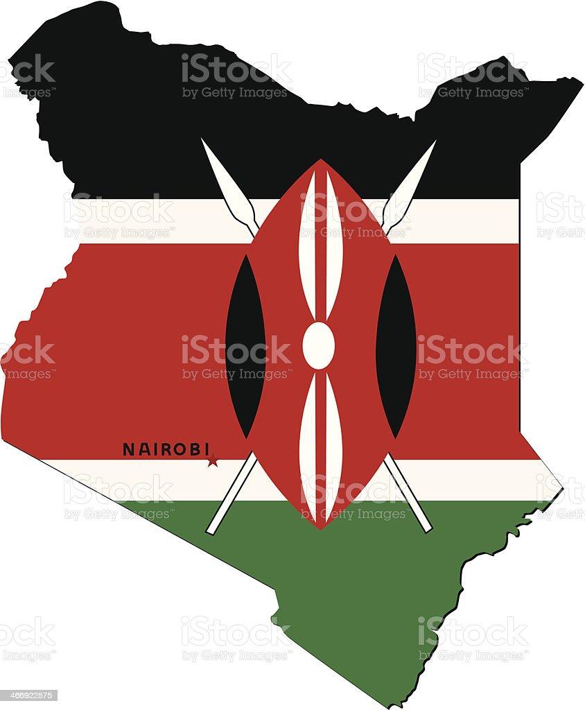 Flag Of Kenya royalty-free stock vector art