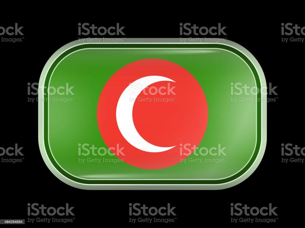 Flag of Kurdistan Kingdom. Rectangular Shape with Rounded Corner vector art illustration