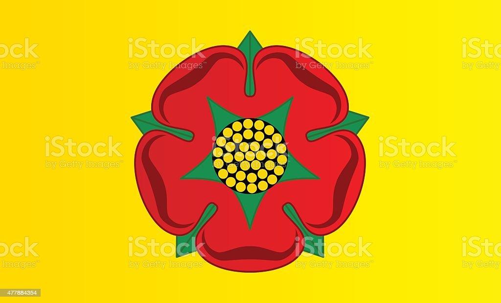 Flag of Lancashire vector art illustration