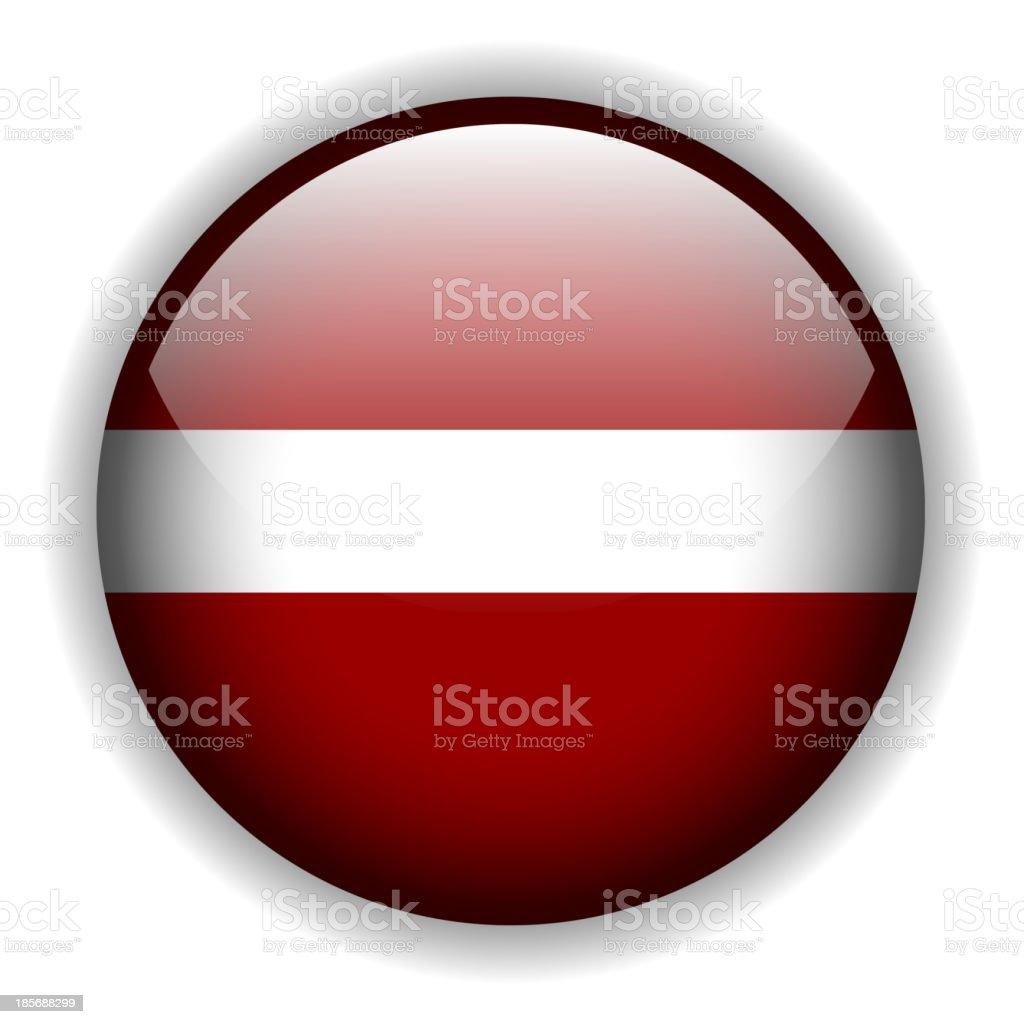 Flag of Latvia button, vector royalty-free stock vector art