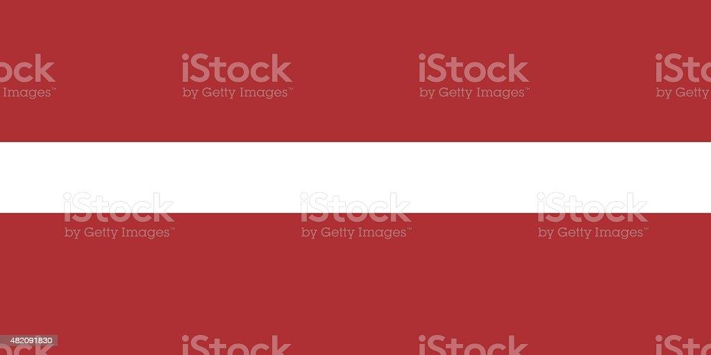Flag of Latvia vector art illustration