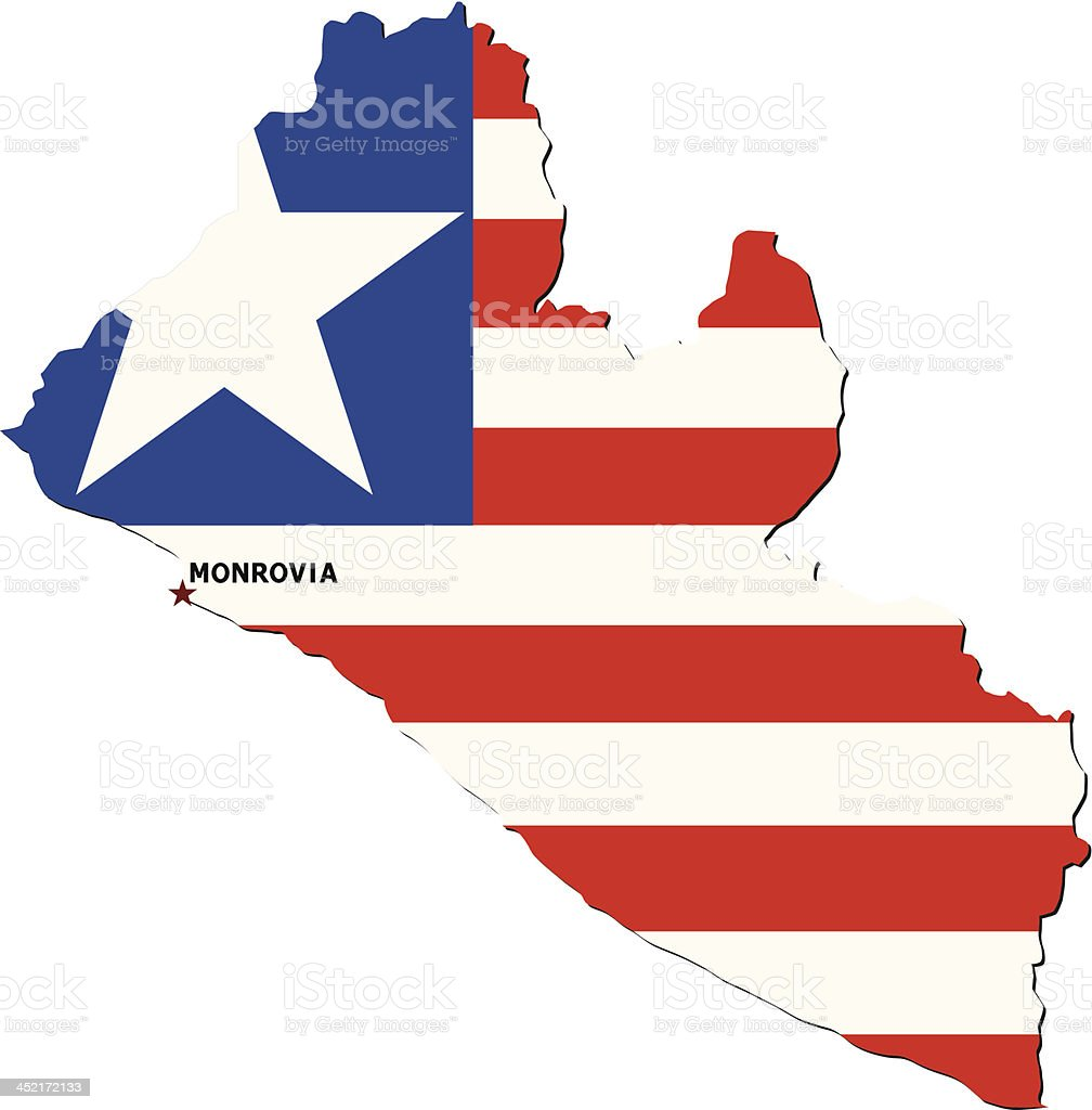 Flag Of Liberia royalty-free stock vector art