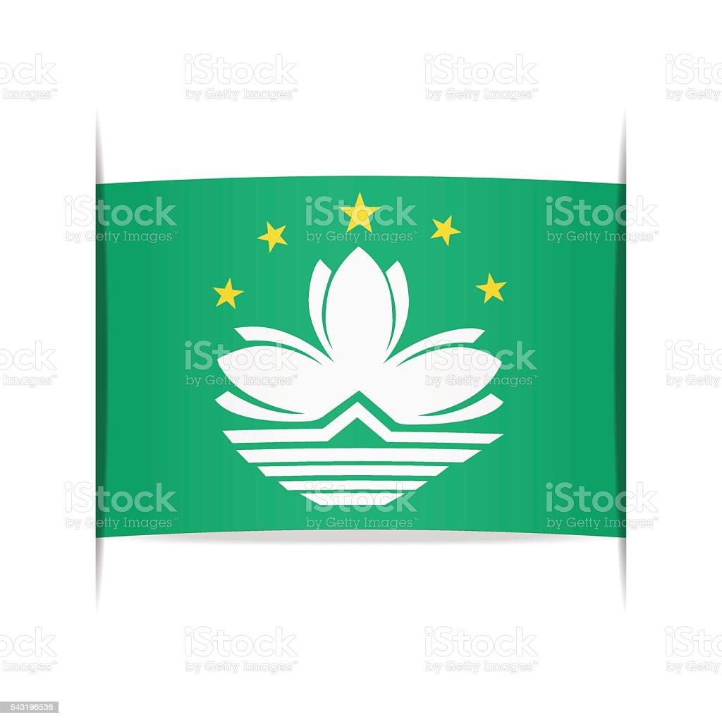 Flag of Macau. Element for infographics. vector art illustration