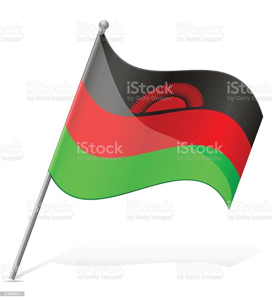 flag of Malawi vector illustration vector art illustration