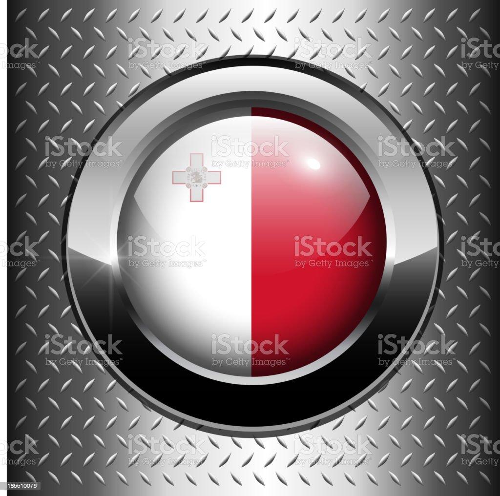 Flag of Malta button royalty-free stock vector art