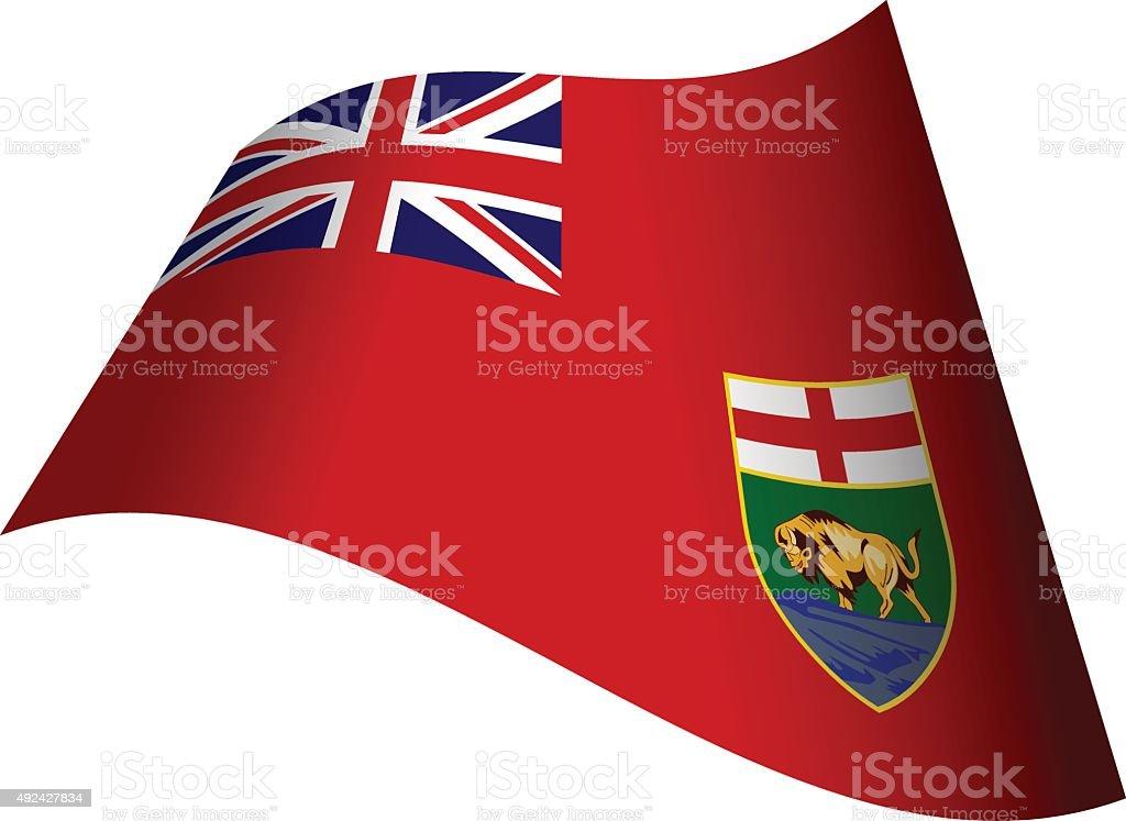Flag of Manitoba vector art illustration