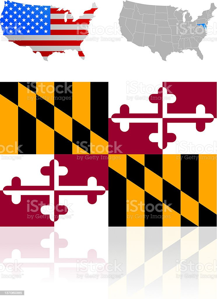 Flag of Maryland royalty-free stock vector art