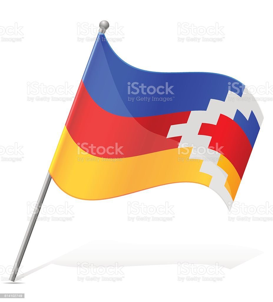 flag of Nagorno Karabakh Republic vector illustration vector art illustration