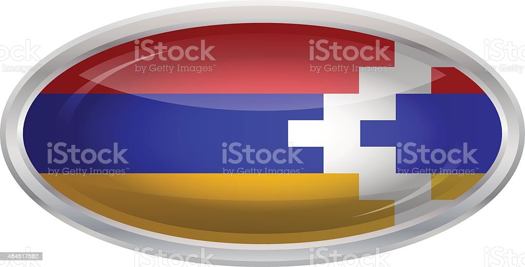 Flag of Nagorno-Karabakh Republic vector art illustration