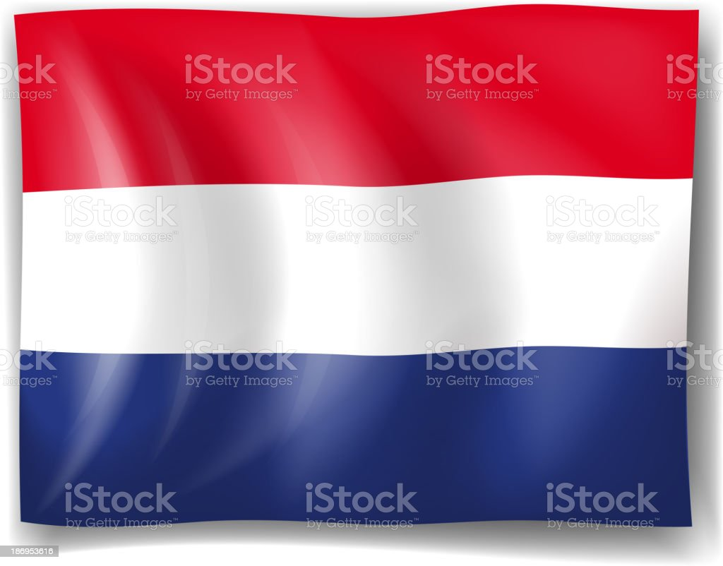 Flag of Netherlands vector art illustration