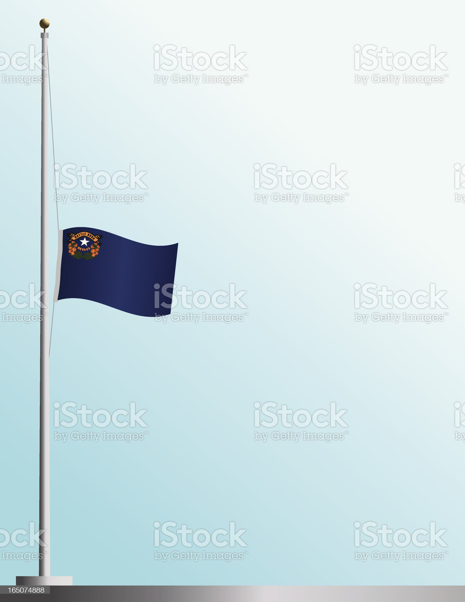 Flag of Nevada at Half-Staff royalty-free stock vector art