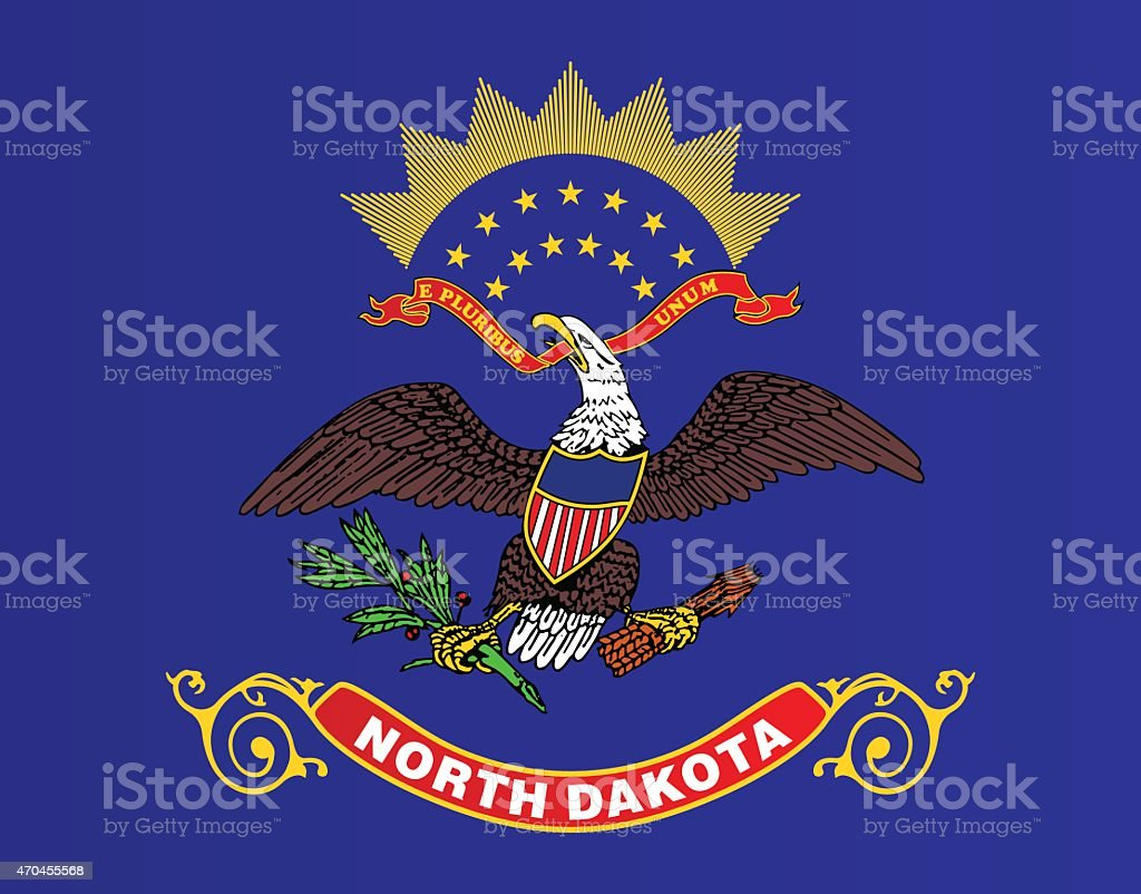 Flag of North Dakota vector art illustration