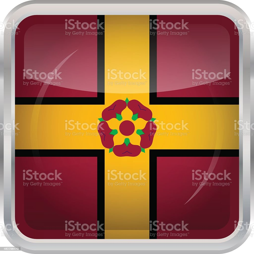 Flag of Northamptonshire vector art illustration