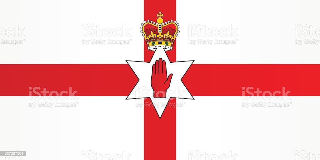 Flag of Northern Ireland vector art illustration