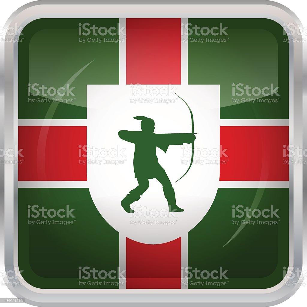Flag of Nottinghamshire vector art illustration