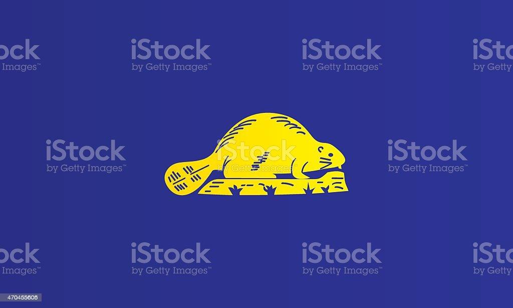 Flag of Oregon - reverse vector art illustration
