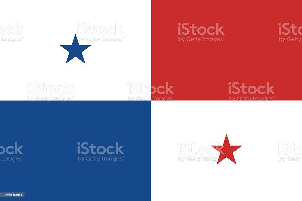 Flag of Panama vector art illustration