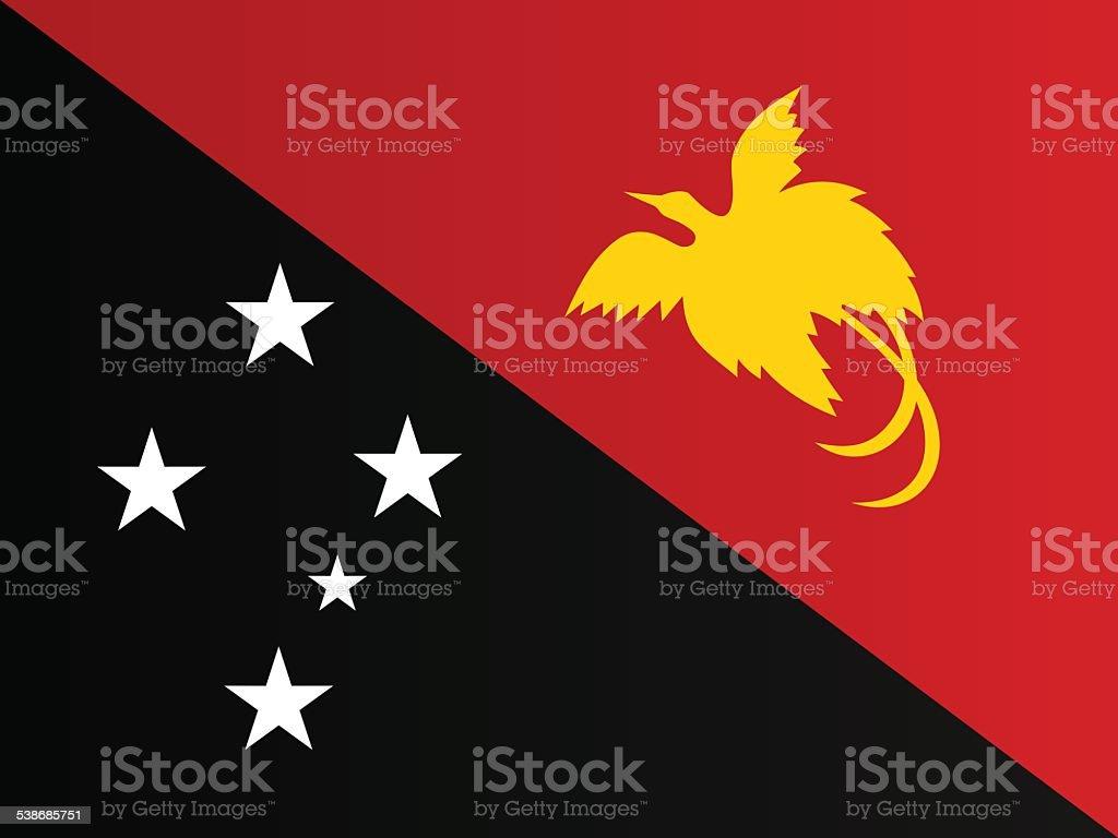 Flag of Papua New Guinea vector art illustration