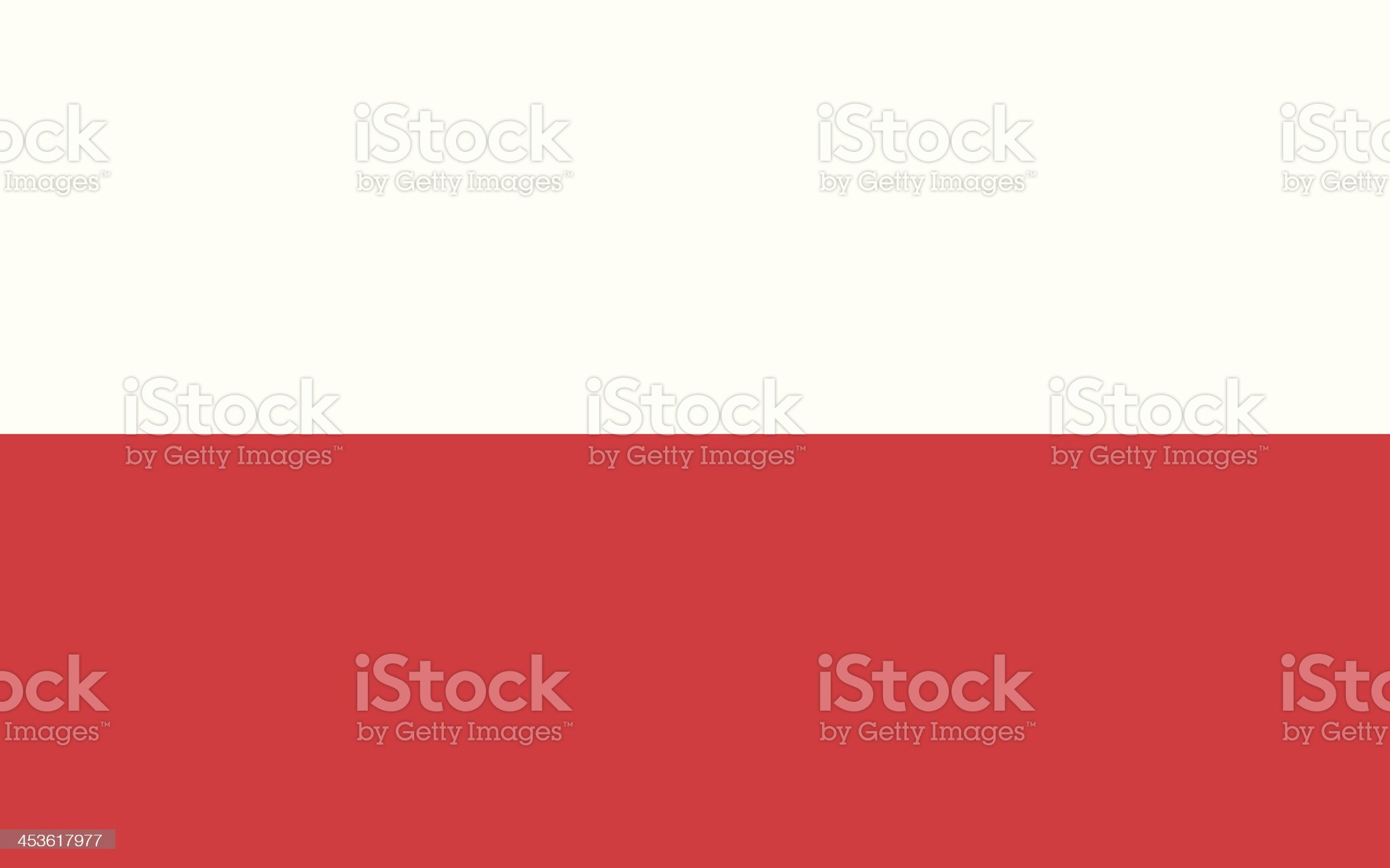 Flag of Poland royalty-free stock vector art
