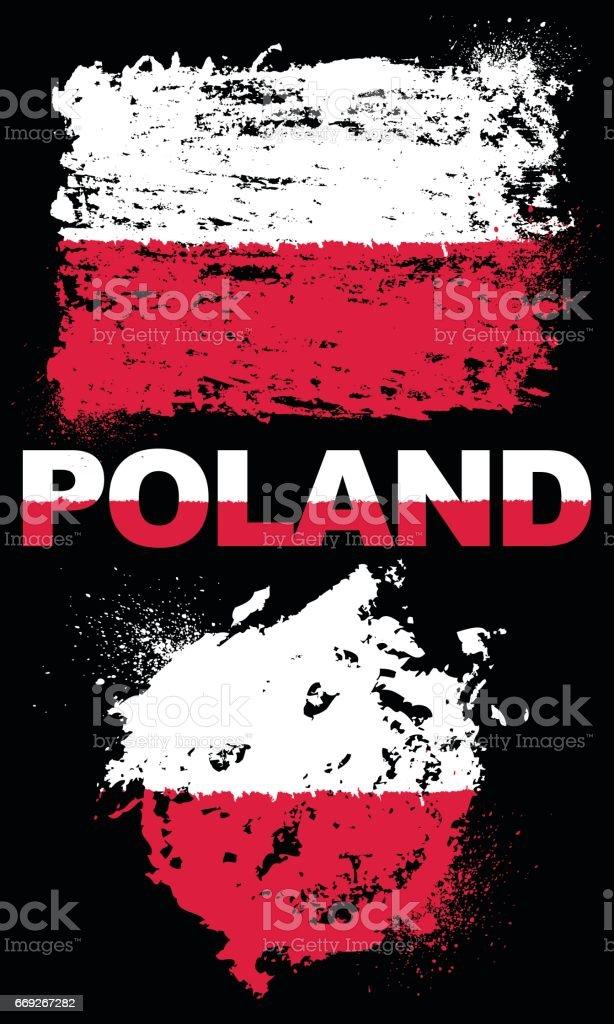 Flag of Poland vector art illustration