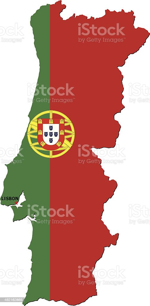 Flag Of Portugal royalty-free stock vector art