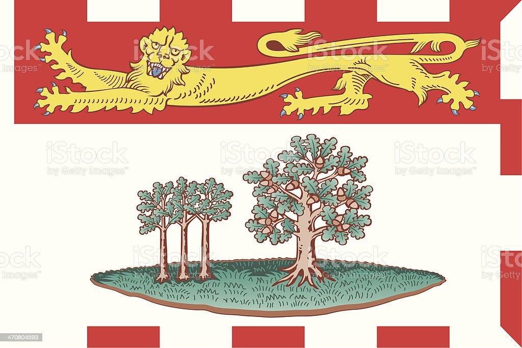 Flag of Prince Edward Island royalty-free stock vector art