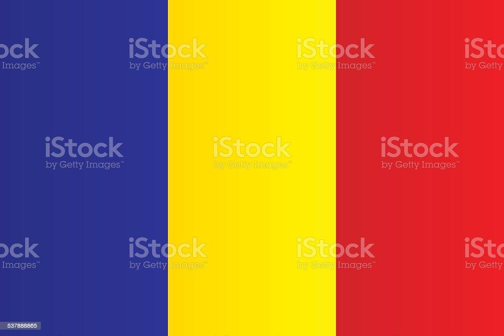 Flag of Romania vector art illustration