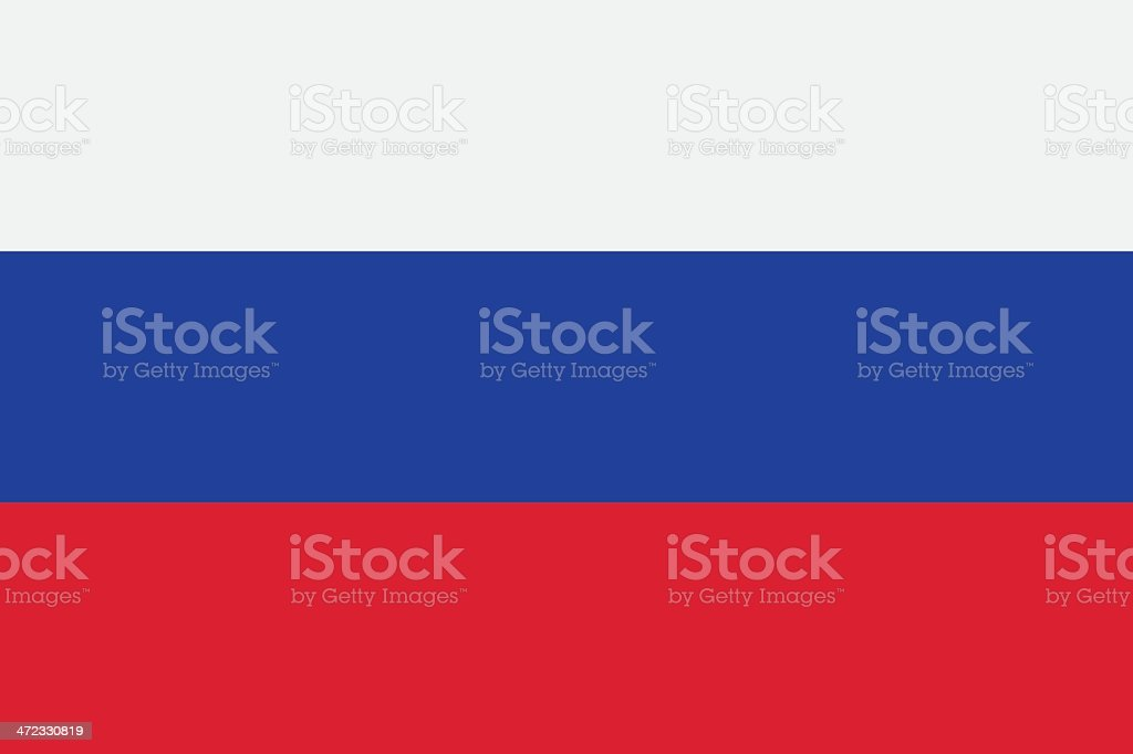 Flag of Russia vector art illustration