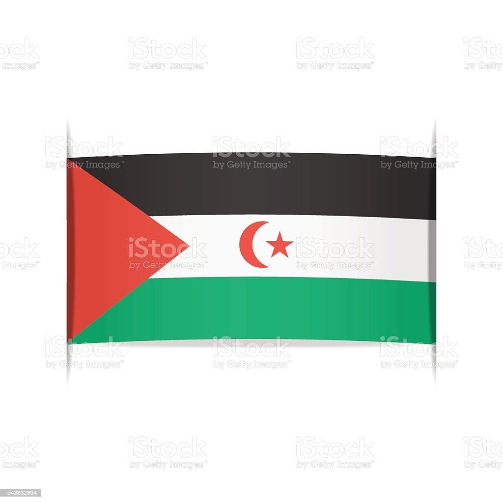 Flag of SADR. Element for infographics. vector art illustration