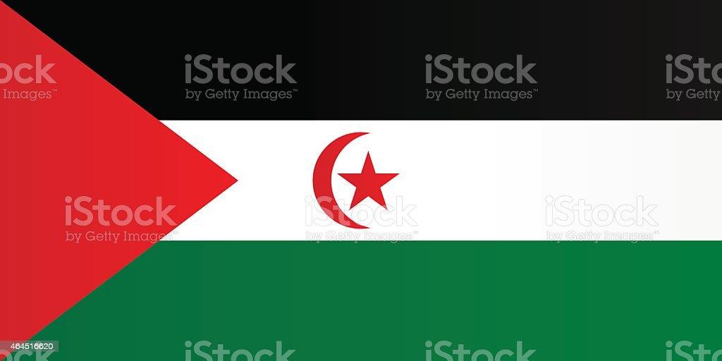 Flag of Sahrawi Arab Democratic Republic vector art illustration